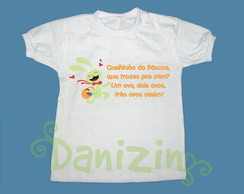 T-Shirt Beb� e Infantil Coelhinho P�scoa