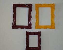 Trio Moldura Colorido Retangular