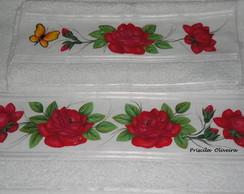 """Toalhas """" Rosas vermelhas"""""""