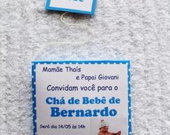 Convite Sach� de Ch� FRETE GR�TIS*