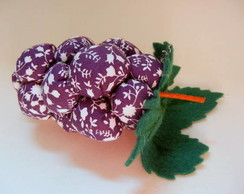 Cacho de uvas de tecido