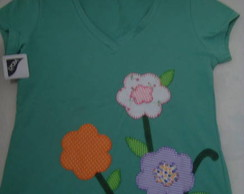 Camisetas Patch Aplique - Flores 5