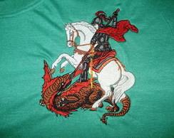 Camiseta Bordada S�o Jorge