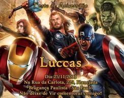 Convite Os Vingadores