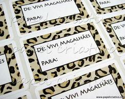 Etiqueta Adesiva M - Animal Print