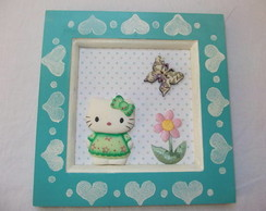 Quadro Hello Kitty Verde