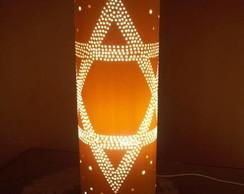 Lumin�ria de PVC Estrela de Davi
