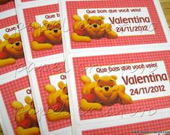 Etiqueta Adesiva M - Ursinho Pooh