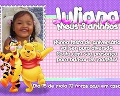 Convite do ursinho Pooh