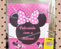 Kit de Colorir Minnie Rosa