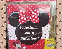 Kit de Colorir Minnie Vermelha