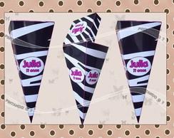 Cone Personalizado Zebra