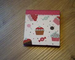 porta post-it cupcake