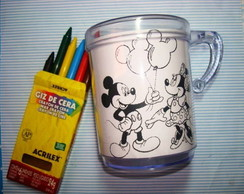 caneca para colorir
