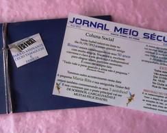 Convite modelo Jornal 3 em 1