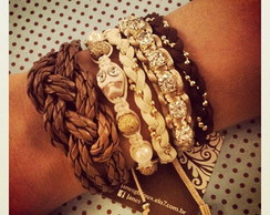 Mix de Pulseiras Cream & Coffee
