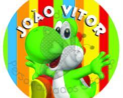 Yoshi Mario Bros R�tulo Adesivo