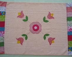Tapete banheiro rosa tulipas
