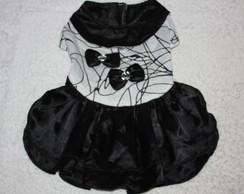 Vestido de Algod�o/Cetim