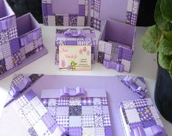 kit escritorio patchwork lilas