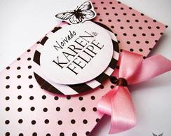 Convite Rose Chocolat