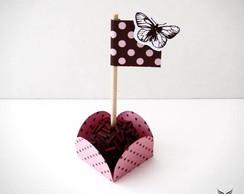 Forminha + Bandeirinha Rose Chocolat