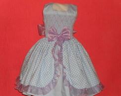 lindo vestido azul e lilas