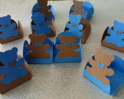 25Forminhas de doces Ursos Marrom e azul