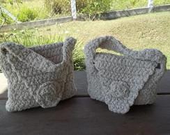 Bolsa de linha em croch�