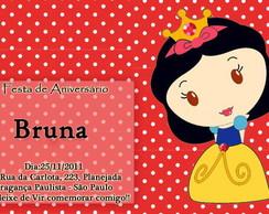 Convite Branca De Neve