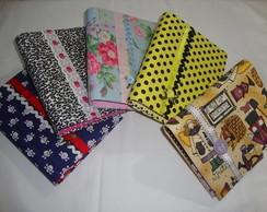 Capas em cartonagem para cadernetas