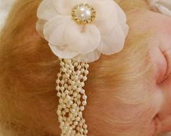 Faixa/headband DIANA c/ flor voil