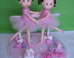 Topo de bolo bailarinas