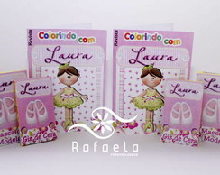 Kit Revista Colorir com giz e massinha
