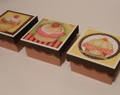 Caixas Vintage Cupcakes