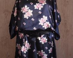 Vestido Oriental Plus Size (encomenda)