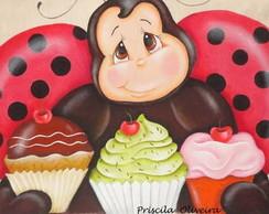 "ECO BAG Sacola "" joaninha cupcake"""