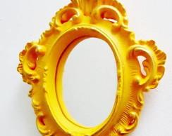 Espelho Proven�al Amarelo Ouro