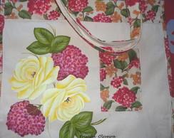 """Eco Bag Sacola """"Rosas Amarelas """""""