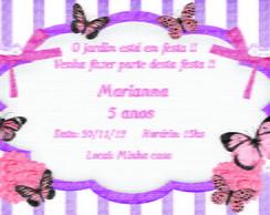 Convite borboletas