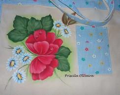 "Eco Bag Sacola "" Flores ,Papoulas """