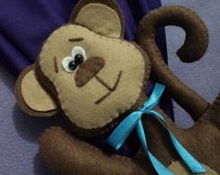 Prendedor cortina - Macaco em p�