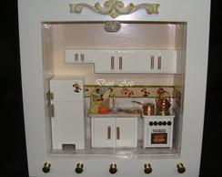 Quadro Porta chaves p/ cozinha iluminado