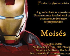 Convite Homem De Ferro