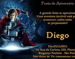 Convite Thor