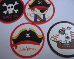 Adesivo para latinha / topper  Pirata