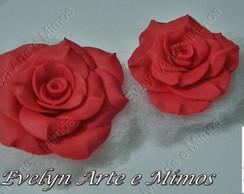 Rosas em biscuit