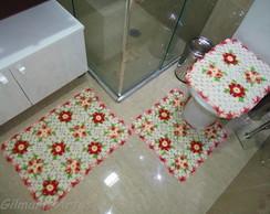 Jogo de banheiro - Flores BNH 036