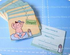 Card Cheguei - Beb� Escovinha 50 un.