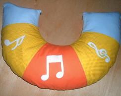 Almofada P/ Amamentar com Notas Musicais
